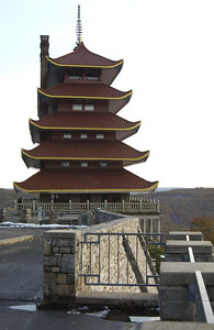 The Reading Pagoda from Mt. Penn Drive