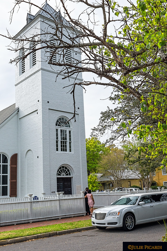 Old Christ Church in historic downtown Pensacola is a popular venue for weddings.  Built in 1832, the church is still used  for Episcopal services and serves as a public library and museum.