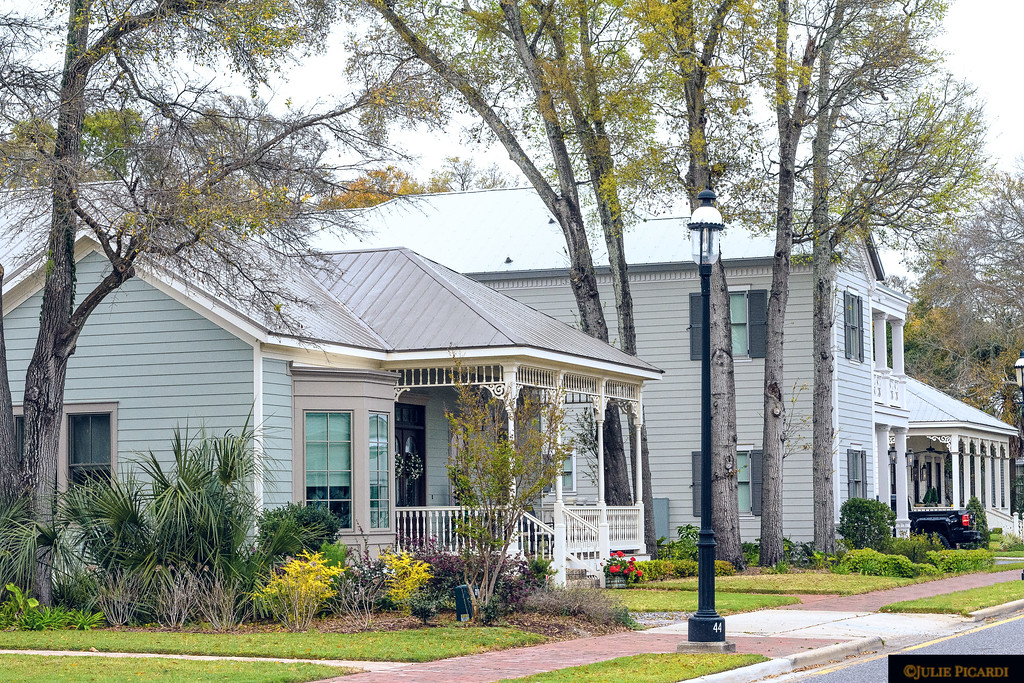 A nice walk reveals lovely homes in the downtown  historical district of Pensacola on East Zarragossa Street.