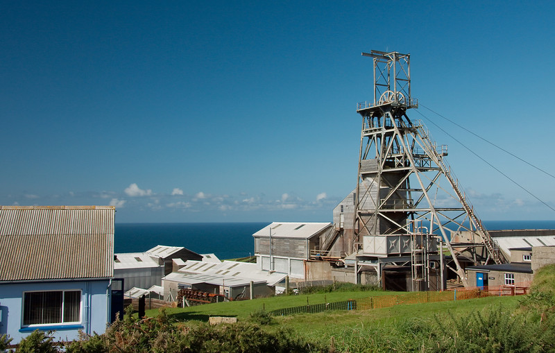 The Geevor Tin Mine and Museum on the Penwith Peninsula located near Zennor.