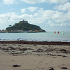 St. Michael's Mount from the beach at Marazion, Cornwall, UK