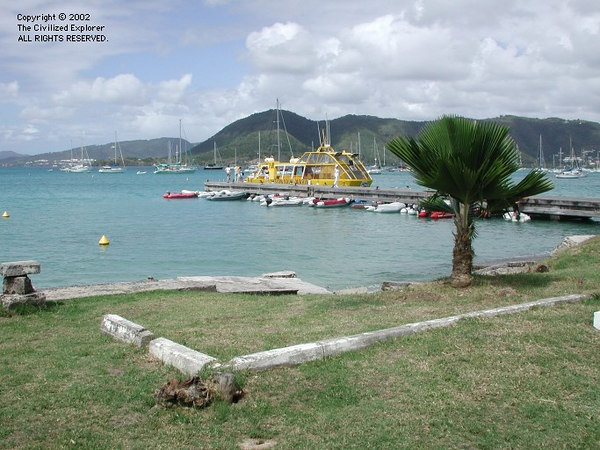 The harbor at Ste  Anne, Martinique