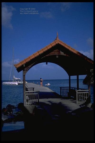 The pier, AnseNoire, Martinique