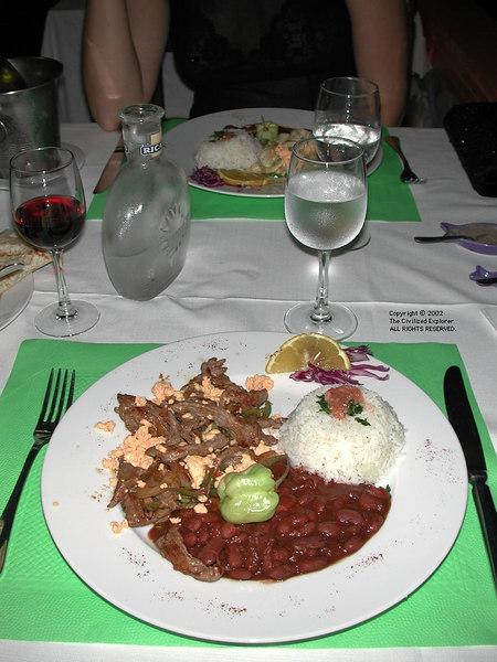 Dinner at Diamant Grill, Martinique
