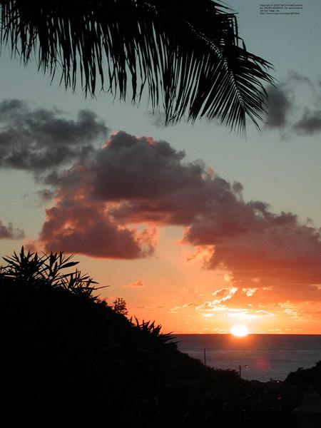 Sunset at Gustavia I