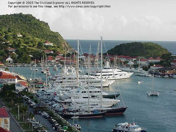 Ships at dock, St  Barth