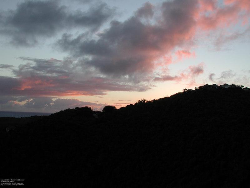 Dawn on St  Barth