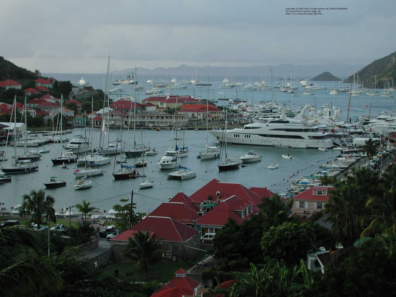 A view of Gustavia