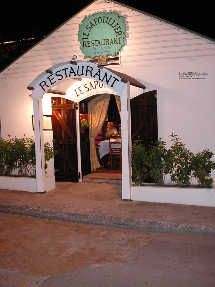 Le Sapotillier, Gustavia