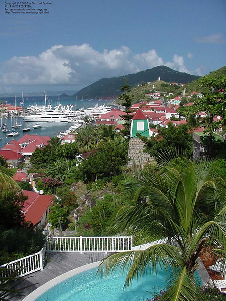 The town and harbor of Gustavia