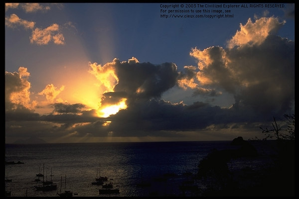 Sunset, Gustavia