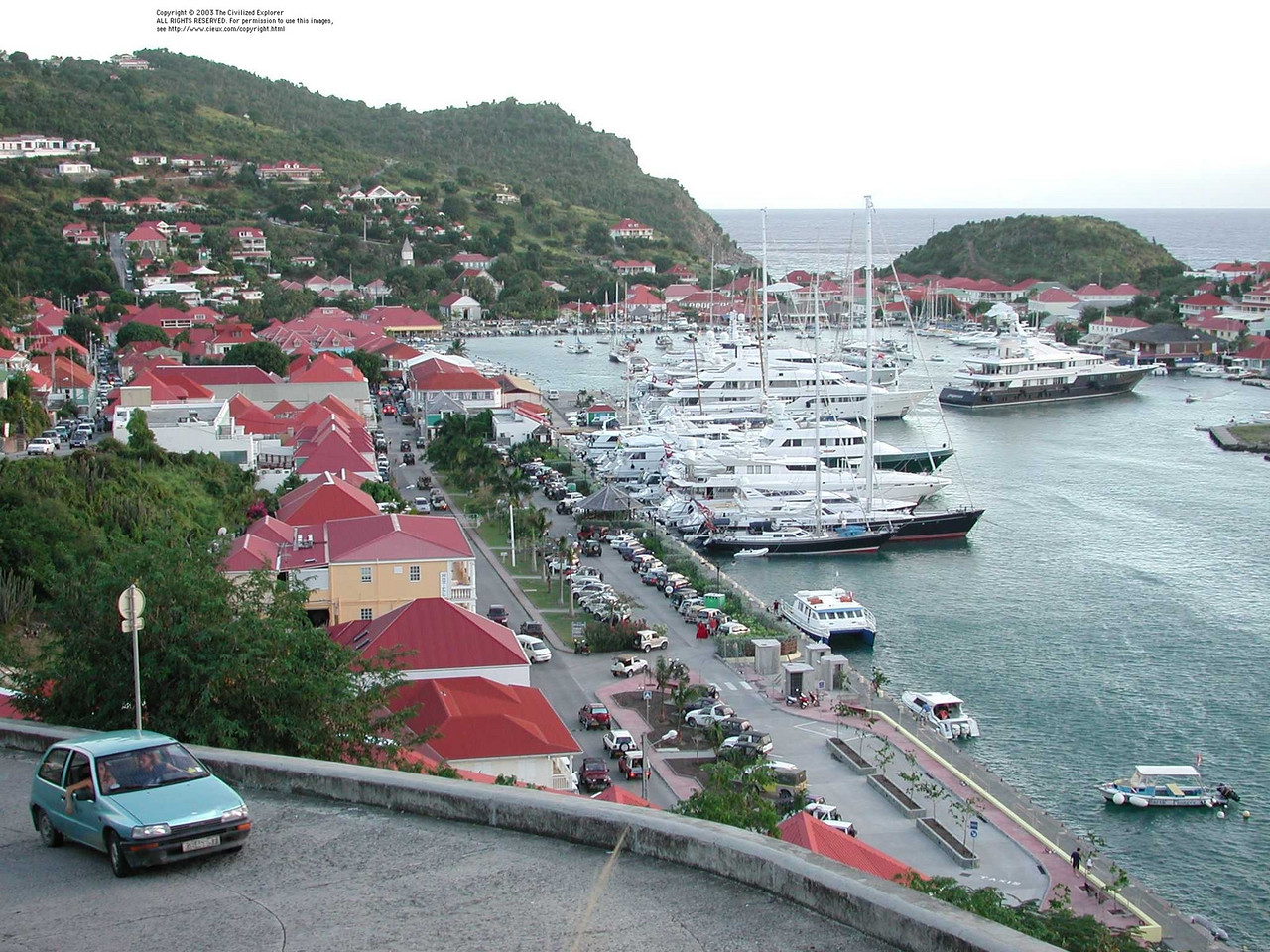 An overview of Gustavia