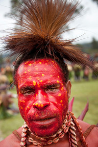 Mid level Pimaga tribesman at the Mt Hagen Sing-Sing