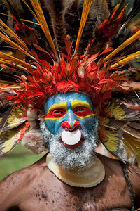 Mt Hagen chief at the Paiya Cultural Show