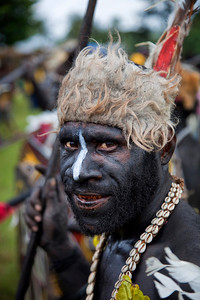 Sepik River warrior at Crocodile Festival