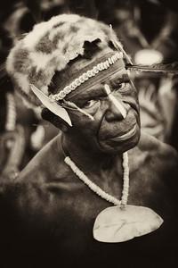 Sepik River warrior at Crocodile Festival