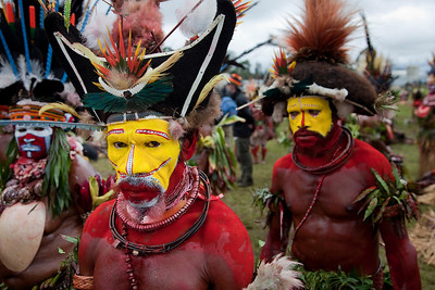 Huli Wigmen at the Mt Hagen Sing-Sing