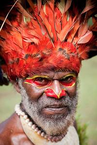 Mt Hagen tribesman at the Paiya Cultural Show