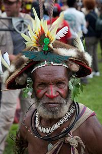 Huli Wigman elderly at the Mt Hagen Sing-Sing
