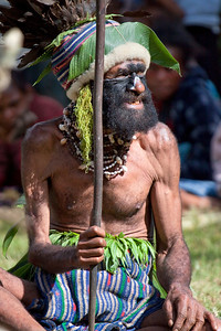 Chief of an unknown tribe at the Paiya Cultural Show