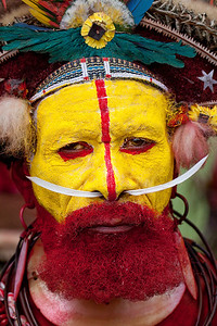 Huli Wigman at the Mt Hagen Sing-Sing