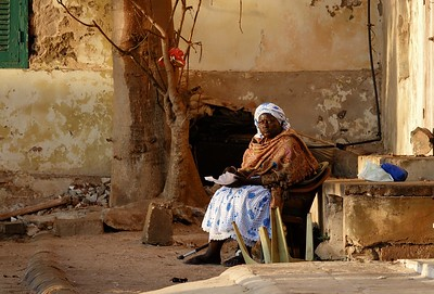 Sitting for a moment - Goree