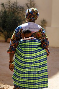 Gran and baby - Goree