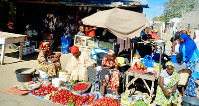 Typical road side scene  Senegal