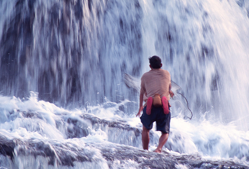 Fishing, Tad Hung Falls<br /> (Lao, 2004)