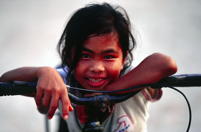 Girl on Handle Bars, Pakse<br /> (Lao, 2004)