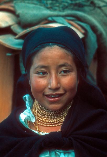 Otovalo Indian Girl  Otovalo Ecuador.
