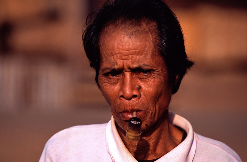 Man With Pipe, Bonlivan Plateau<br /> (Lao, 2004)
