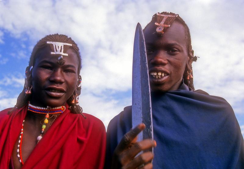Two Masai boys make a point