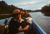 This was our transport in the Amazon. A dugout canoe that held about 12 people. It took all day, we had to all get out and push the empty boat through the shallow rapids.  We raced the daylight to the port. Otherwise there was no place to tie up except the jungle edge and lots of snags in the river that you couldn't see in the dark.