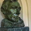 Lincoln bust, White House, Washington DC.