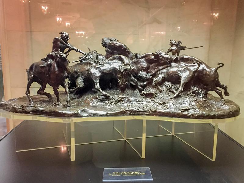Meat for Wild Men, Frederic Remington, White House, Washington DC.