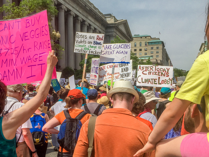 The People's Climate March commemorates Trump's first 100 days,  Washington DC.