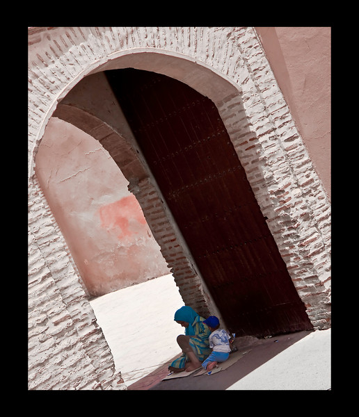sheltered by shadows - Koutoubia Mosque complex - Marrakech