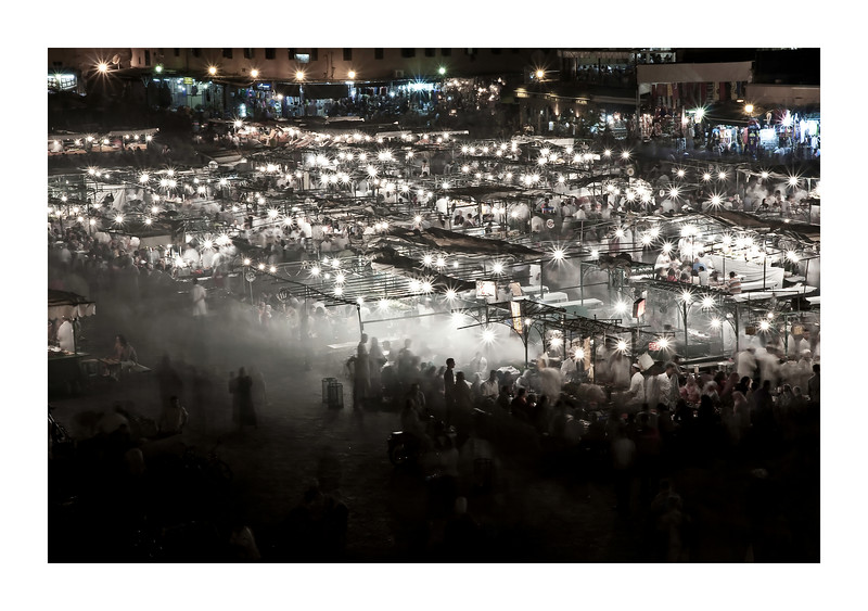 The Djemaa El Fna - Marrakech - this square was super busy with these food stalls from dusk until after midnight. every night.