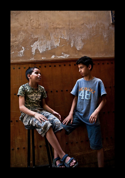 two boys conversing - Fez