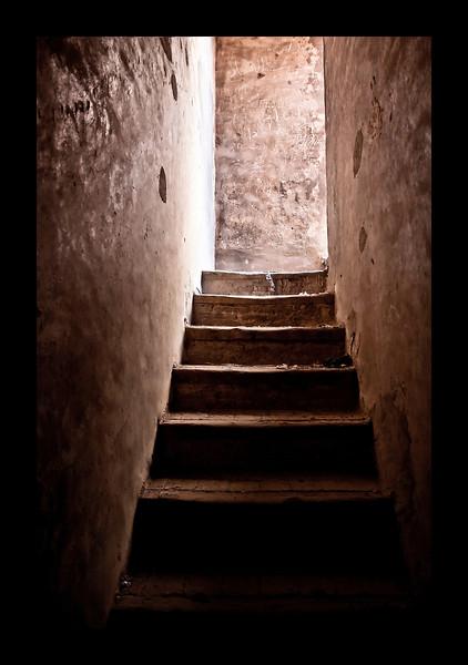 Stairs. Ait Benhadou Kasbah