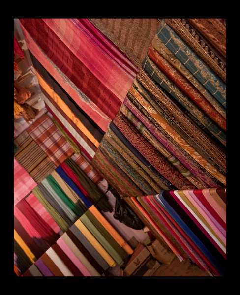 fabric store, Marrakech Souks