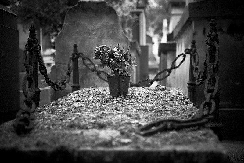 Pere Lachaise Cemetery. Paris France