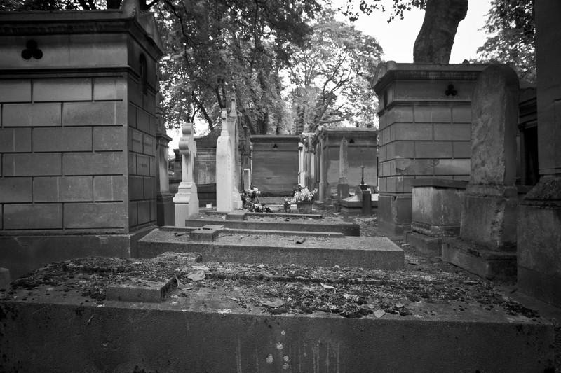 Pere Lachaise Cemetery. Paris France