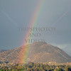 Rainbow in the valley of Perris, California.