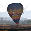 Hot Air Balloon lands on the field in Perris, California.
