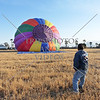 A Hot Air Balloon is inflated for a flight over Perris, California.