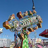 Fun rides at the fair amusement park in Perris, California.