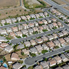Residential housing view over Perris, California.