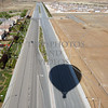 Hot Air Balloon shadow over the freeway  in Perris, California.